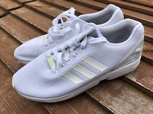 Adidas ZX Flux Trainers White Size 10