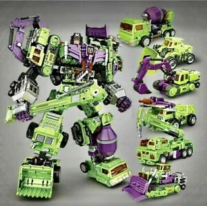 Transforming Robot Devastator Action Figure 6 in 1 Oversized 40cm