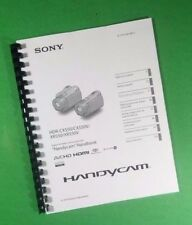 LASER PRINTED Sony CX550 XR550 Digital HDR Camera 127 Page Owners Manual Guide