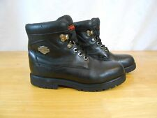 Women's Harley Davidson Ankle Boots Motorcycle Black Leather Lace Up Size 5
