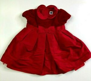 Janie and Jack Girls Red Special Occasion Christmas Dress 3-6 M