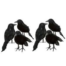 Black Lifesize Raven Movie Prop Fake Crow Halloween Fake Bird Hunting Decor EN