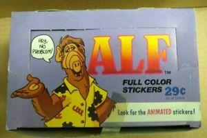 1987  Alf stickers  Sealed unopened wax box Alien Productions Diamond Publishing