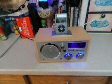 iCRAIG RETRO FM CLOCK RADIO WITH IPOD DOCK  SNOOZE ALARM ~ BLUE BACKLIT KNOBS