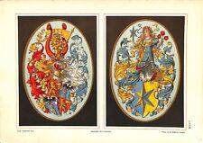 3°Ströhl Heraldischer Atlas héraldique blasons porcelaine Adlersfeld 1899