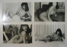 """4 VINTAGE BETTIE PAGE PIN-UP/RISQUE PHOTOS_3 3/4 X 5 3/4""""   *set B"""