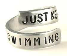 Just Keep Swimming - Swimming Ring- Dory- Finding Nemo- Aluminum Inspiration ...