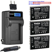 Kastar Battery LCD AC Charger for Kodak KLIC-5000 & Kodak EasyShare Z7590 Camera
