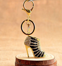 Multicolors Fashion High-heeled Shoes Keychains Gift for Women Bag Pendant Car