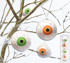 Set of 4 Bloodshot Eyeball Hanging Ornaments Halloween Decoration Burton+Burton