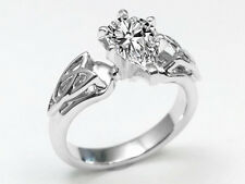 1.04 Carat Pear Diamond Triquetra Celtic Engagement Ring D IF