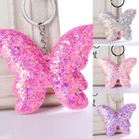 Jewelry Bag Accessories Handbag Pendant Butterfly Keyring Sequins Keychain ME
