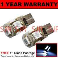 W5W T10 501 CANBUS ERROR FREE WHITE 5 LED NUMBER PLATE LIGHT BULBS X2 NP101302