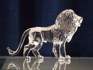 LION Figurine@CRYSTAL Glass BEAST@UNIQUE Collectable Gift@Wild KING@The JUNGLE