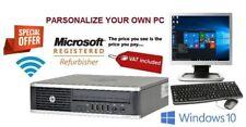 FAST Cheap Quad Core i5 Office PC HP Desktop Computer 1TB 8GB Windows 10 Monitor