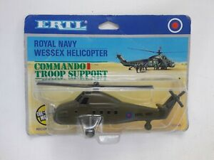 ERTL Royal Navy Wessex Helicopter Commando Troop Support Die Cast