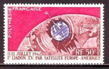 French Polynesia Sc C29 NH Space - Telstar Issue - 1962