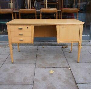 Mid Century Desk, Maple, Maple Veneer, manufactured by Sicame (Belgium)