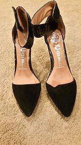 Jeffrey Campbell California Black ankle strap Heels sz6 BNWOT free post E34
