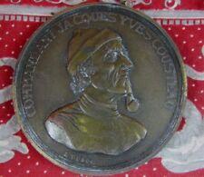 ancienne grosse medaille bronze medal duboc commandant yves cousteau calypso