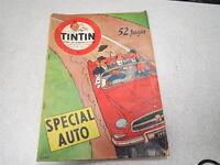 JOURNAL DE TINTIN N°416 - 11 OCTOBRE 1956 COUVERTURE HERGE, SPECIAL AUTO TINTIN*