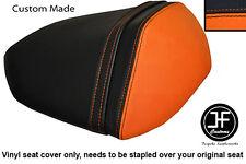 ORANGE BLACK VINYL CUSTOM FITS KAWASAKI Z750 07-12 & Z1000 07-09 REAR SEAT COVER