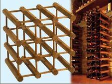 cantinetta portabottiglie VINO cantina 12 posti LEGNO MODULARE ELEGANTE 28X34X34
