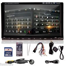 "Camera+HD 7"" 2 Din In Dash Car Stereo DVD Player GPS Navigation Bluetooth RDS HQ"