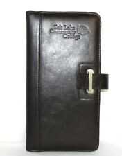 ❤️CUTTER & BUCK SLCC Brown Leather Travel Business Wallet 4.5x9 EXCELLENT! L@@K!