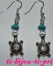 Earrings Pearl Wood Turquoise Teenage Mutant Turtle Jewelry