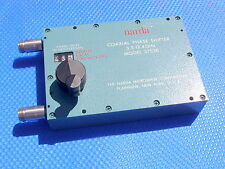 PHASE SHIFTER NARDA MICROWAVE MODEL 3753B PRECISION COAXIAL 3.5 - 12.4 GHz 200 W
