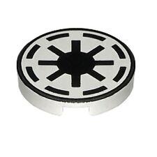 U222A Lego Star Wars Round Tile Republic Logo - White 7163 7143 7256 7868 NEW