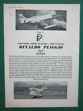 6/1966 PUB PIAGGIO DOUGLAS PD-808 P166 AIRCRAFT / GOOD YEAR TYRES ORIGINAL AD