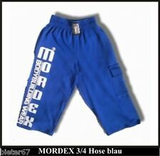blaue 3/4 Bodybuilding Gym Hose Sporthose Bermuda Freizeithose MORDEX