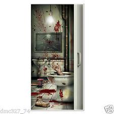 1 HALLOWEEN Party Prop CREEPY CRAPPER BATHROOM Restroom Wall DOOR COVER