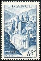 """FRANCE TIMBRE STAMP N°805 """"ABBAYE DE CONQUES, 18F"""" NEUF X TB"""