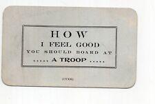 Early 1900's Troop A Football Cheer Card, Fort Assinnuiboine, Montana