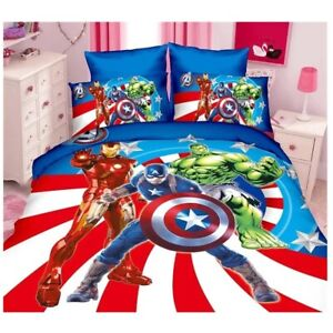 Disney style Bedding Set Duvet Cover Bed Sheet Pillowcase single/Twin Kids