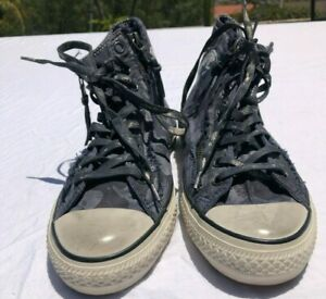 Converse John Varvatos Men's Size 9 Camouflage Double Zipper All Star Sneakers