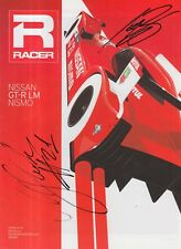 Alex Buncombe and Mark Shulzhitski Hand Signed Nissan GT-R LM Nismo Leaflet.