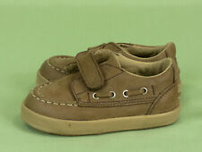 285 Sperry Top Sider baby boy beige leather shoes oxford EUC 3 M