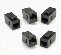 5x RJ45 CAT.6 Keystone Network Cable Connector Adapter Extender Plug Coupler