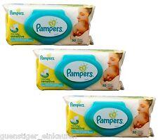 3x Pampers 50 Feuchttücher new baby sensitive mit praktischer Spender Öffnung