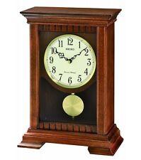 *Brand New* Seiko Brown Wooden Chiming Pendulum Mantel Clock Qxq029Blh