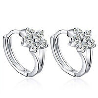 Women Girls Korean Style Snowflake Engagement Party Earrings Accessories G