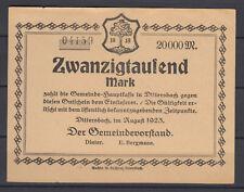 Dittersbach - Dzietrzychów - Gemeinde - 20 Tausend Mark