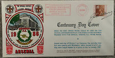 More details for arsenal centenary first day cover signed by jack kelsey