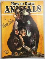 Vintage 1988 No.12 How To Draw Animals by Walter Foster Art Book