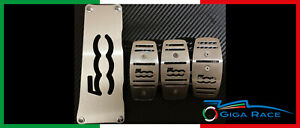 Pedals for Fiat 500 Foot Board Footrest Pedals Stainless Steel Pedal Covers