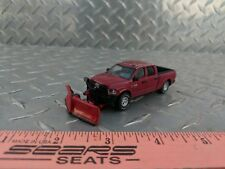 1/64 CUSTOM ERTL farm toy dodge 2500 cummins snow v plow blade pickup truck